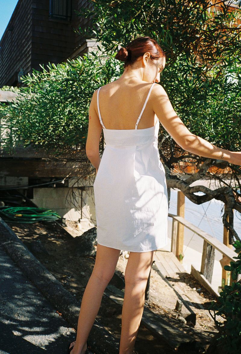 Garda Dress White Cotton