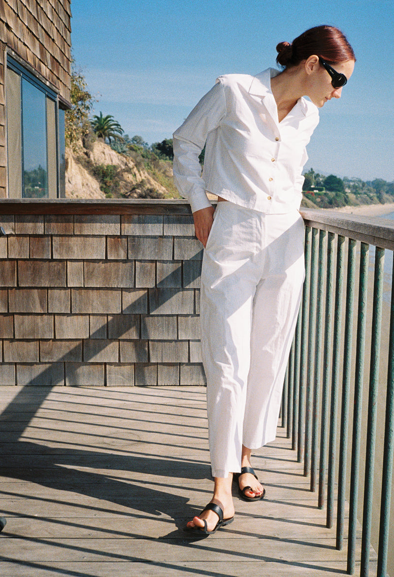 Pietro Pant White Cotton
