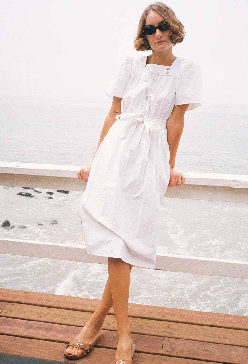 Sardinia Dress White Cotton