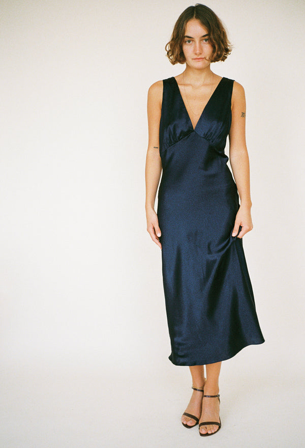 Caterina Dress Midnight Silk