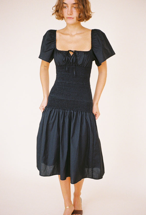 Chiara Dress Black Cotton