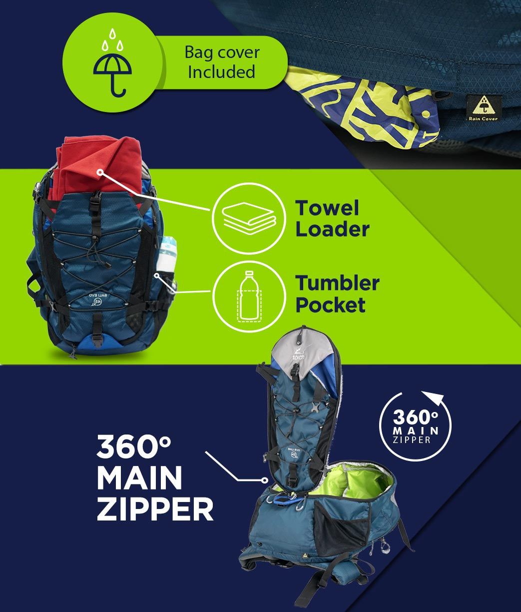 Travel backpack Bali Evo 45L