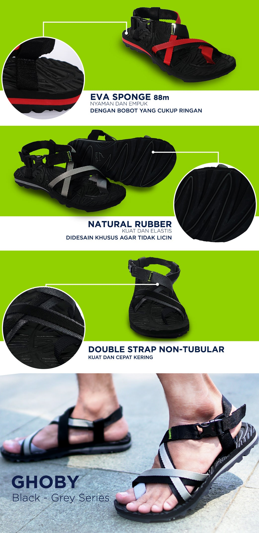 Sandal Ghoby - Sandal Amphibi for Sand, rock n' water