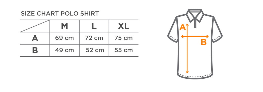 Size chart kaos polo Torch