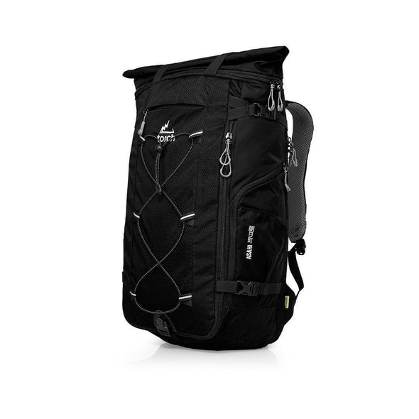 Tampak samping kiri tas ransel traveling Torch, Asahi Travel Backpack 40 Liter.