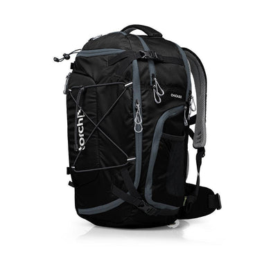 Tampak samping kiri tas ransel traveling Torch, Chicago Travel Backpack 45 Liter.
