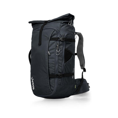 Tampak samping kiri tas ransel traveling Torch, Fujisawa Travel Backpack 45+3 Liter.