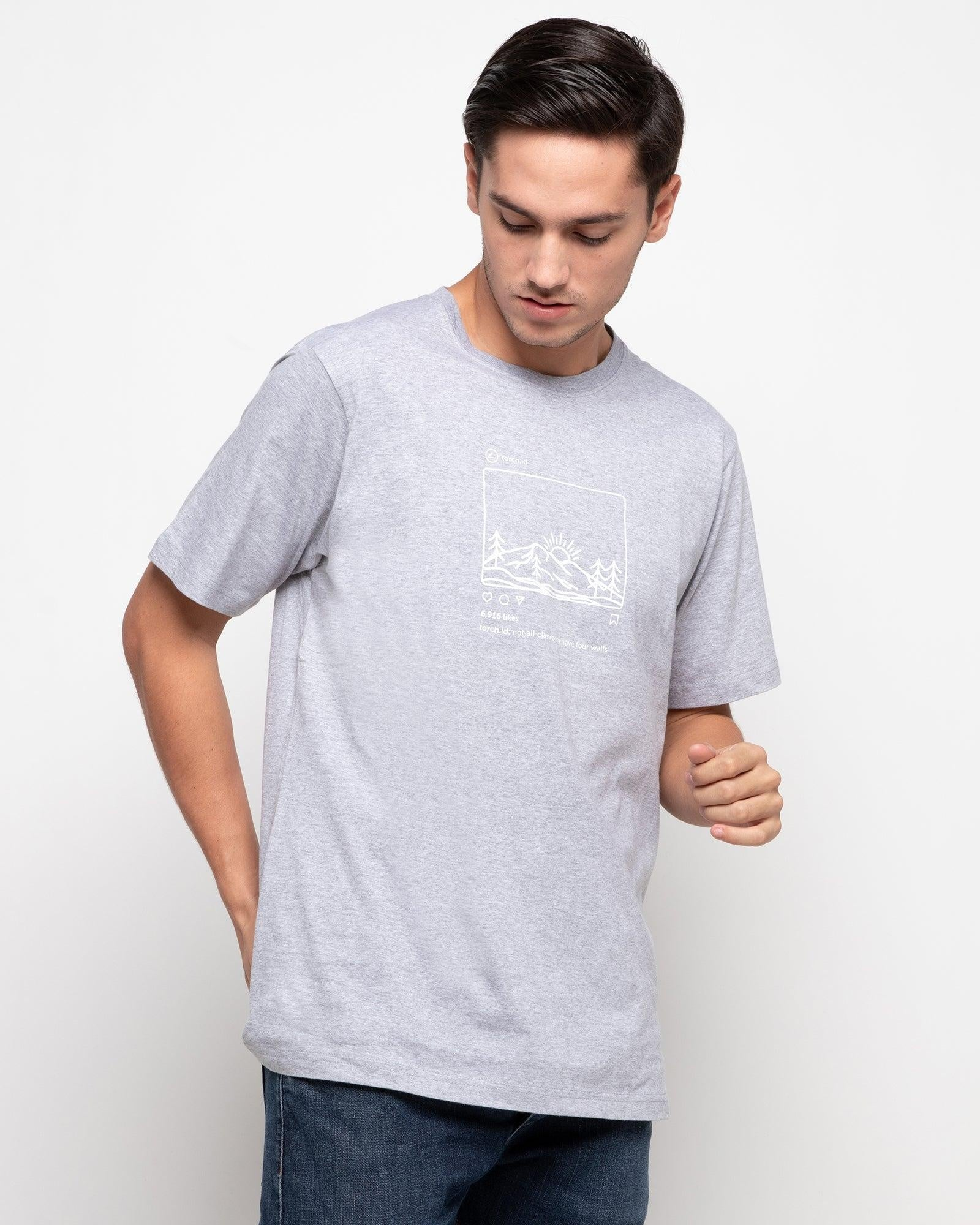 T-shirt Instagram - Grey