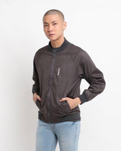 Jaket Bomber Dominic - Grey