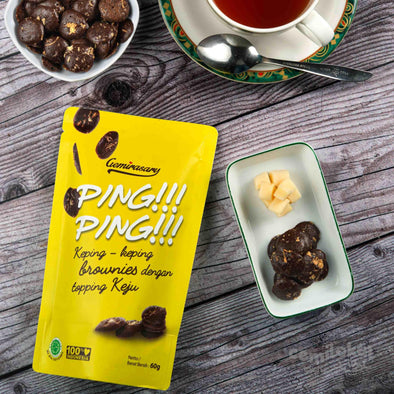 Brownies Kering Ping Ping Original 60 gr Cheese Bandung