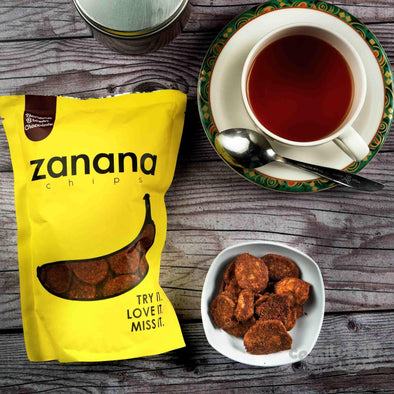 Banana Chips Zanana 80 gr Brown Chocolate Bandung