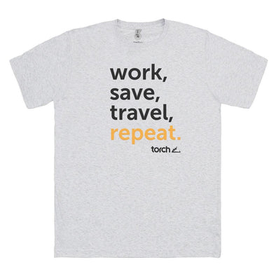 T-shirt Travel Repeat - White
