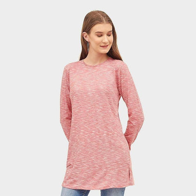 Tunik Long Basic Women - Dusty Pink