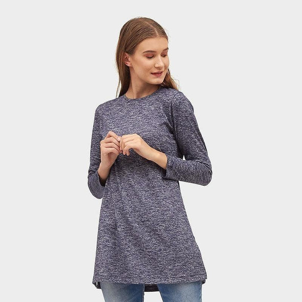 Tunik Long Basic Women - Navy Misty