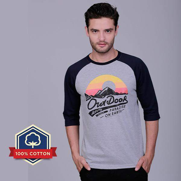 Kaos Raglan Outdoor Paradise On Earth