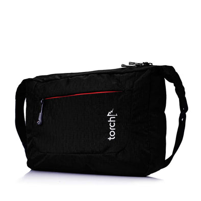 Sanmu Messenger Bag - Black Slub
