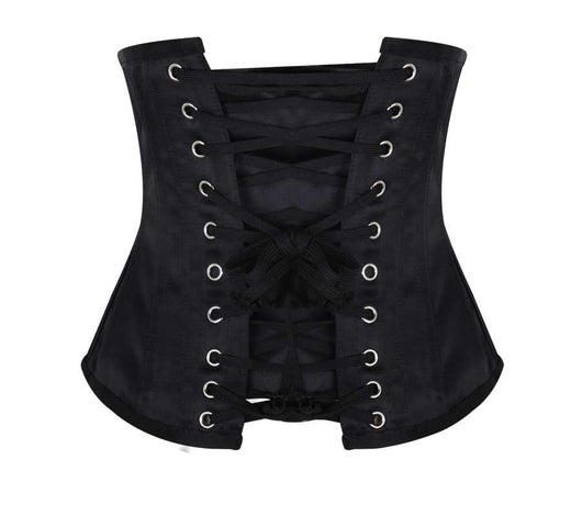 Super Curve Underbust Satin and Brocade Embroidered Steel Boned Corset