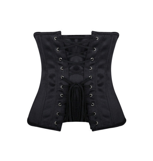 Classic Smooth Satin Underbust Spiral Steel Boned Corset