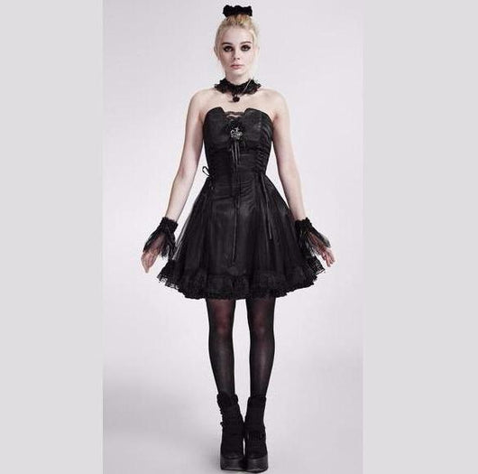 Punk Rave Gothic Lolita Princess Dress with Choker