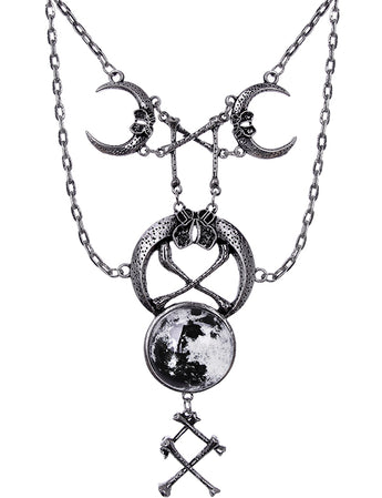 Ritual Moon and Bones Necklace