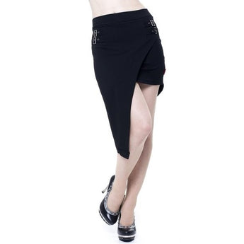 Queen of Darkness Damage Asymmetric Skirt