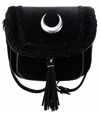 Velvet Mini Moon Bag by Restyle