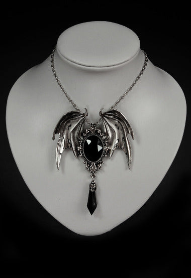 'Della Morte' Necklace with Black Stone