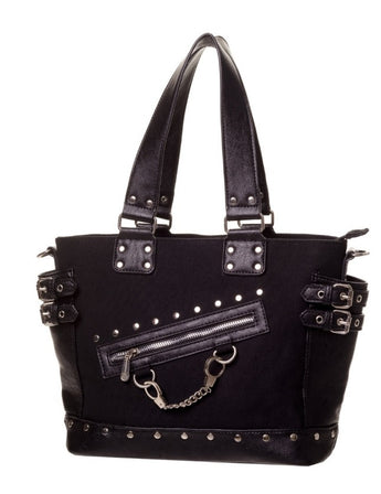 Banned Shoulder Bag with Mini Handcuff Charm