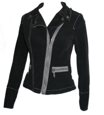 Velvet Touch Punk Asymmetric Zip Jacket by Tripp NYC