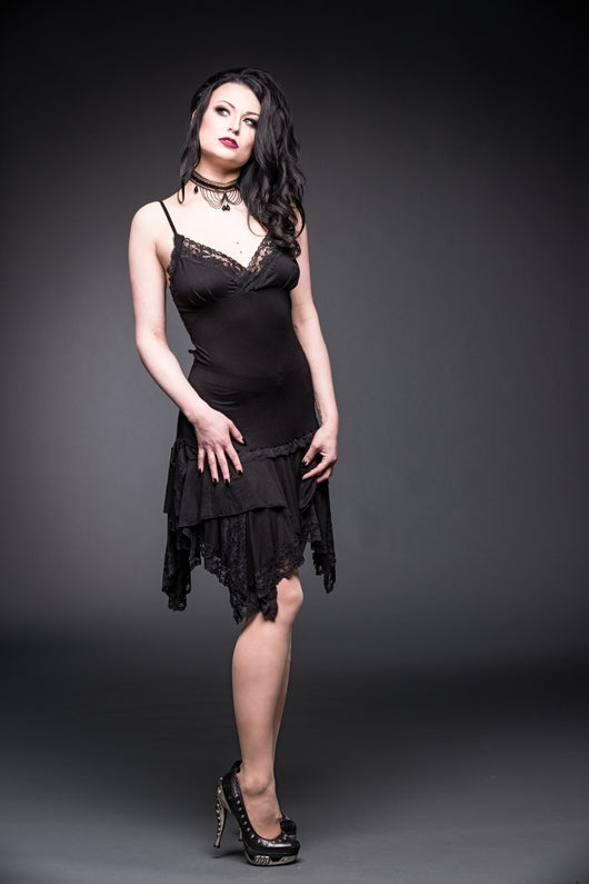 Gothic Lace and Layers Dress