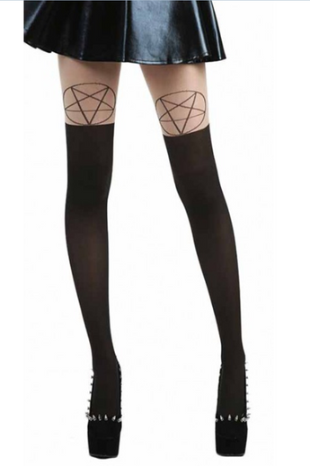 Pentagram Over the Knee Tights by Pamela Mann