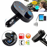 Wireless Car Charger FM Transimittervs Modulator MP3 Player Hands Free with Bluetooth Function