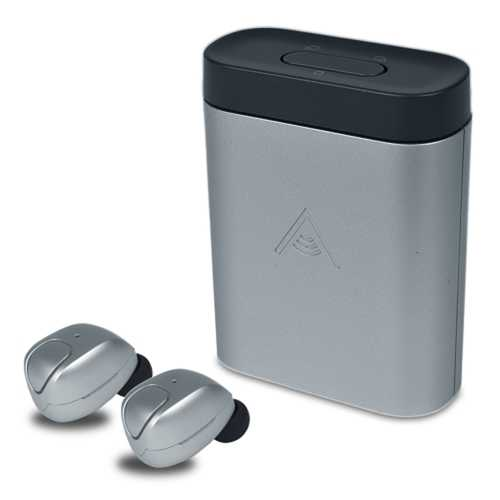 Alpha Audiotronics Skybuds - Truly Wireless Earbuds w/DigitalMicrophone, Adaptive Awareness & Mobile App (Nimbus)