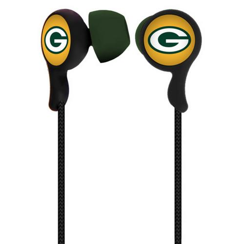 Mizco NFL Green Bay Packers Armor Stereo Hands-Free Earbuds