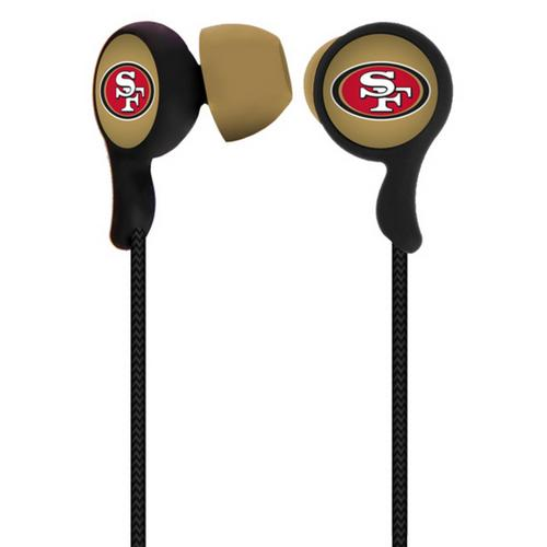 Mizco NFL San Francisco 49ers Armor Stereo Hands-Free Earbuds