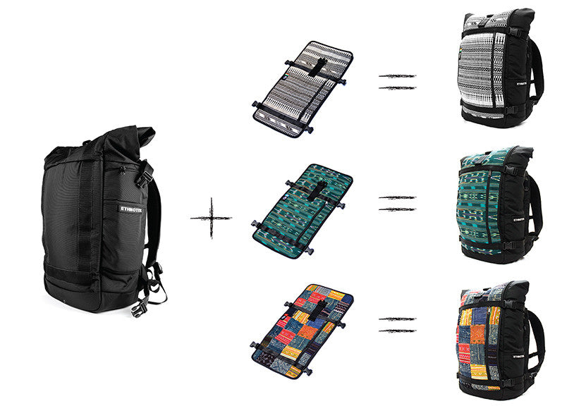 Customizable Threads for Raja Travel Backpack by Ethnotek