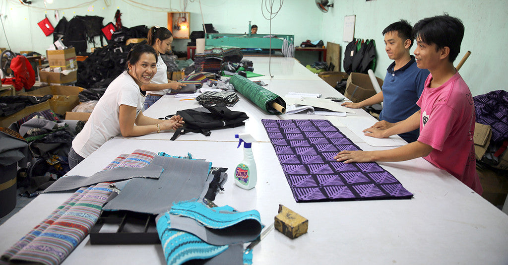 Vietnam production team | Ethnotek Travel Bags
