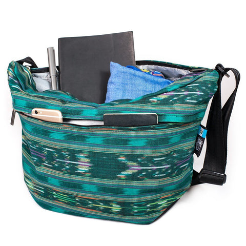 Ethnotek-bagan-cross-body-shoulder-bag-black-guatemala4-teal-green-big-storage-compartment