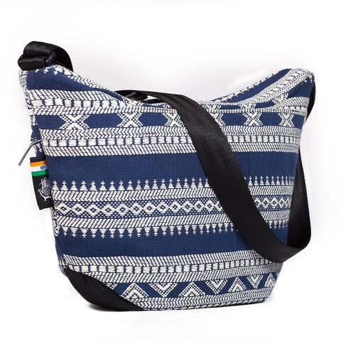 Ethnotek-bagan-cross-body-shoulder-bag-black-india14-blue-and-white-adjustable-strap