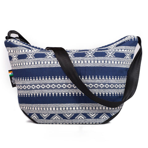 Ethnotek-bagan-cross-body-shoulder-bag-black-india14-blue-and-white-back-pocket