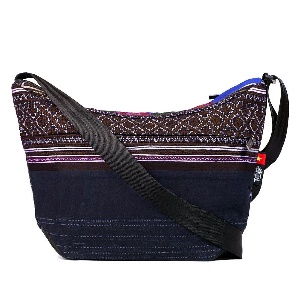 Ethnotek-bagan-cross-body-shoulder-bag-black-vietnam5-navy-blue-artisan-fabric  - vietnam-5 aktive-vietnam