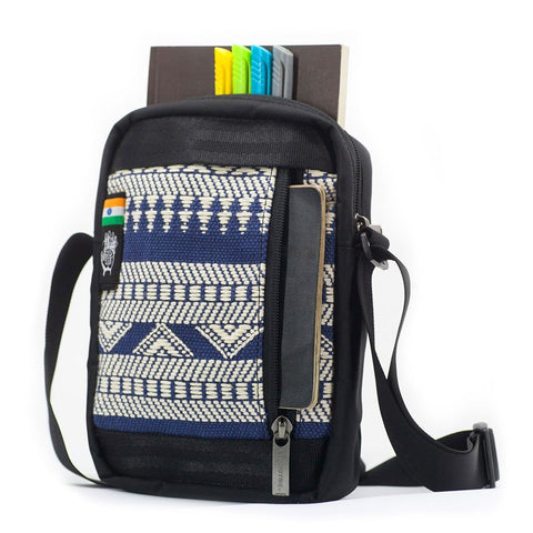 Ethnotek-chaalo-everyday-shoulder-bag-india14-blue-and-white-fits-travel-documents