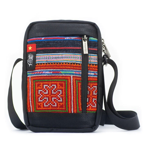 Ethnotek-chaalo-everyday-shoulder-bag-vietnam6-blue-and-orange-vegan - vietnam-6 hover-vietnam