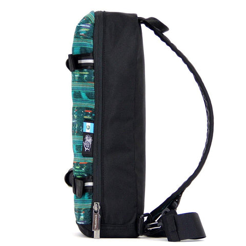 Ethnotek-jalan-cross-body-sling-bag-black-guatemala4-teal-green-vegan