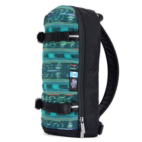 Ethnotek-jalan-cross-body-sling-bag-black-guatemala4-teal-green-ykk-zippers