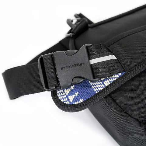Ethnotek-jalan-cross-body-sling-bag-black-india14-blue-and-white-side-release-buckle