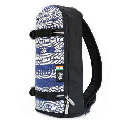 Ethnotek-jalan-cross-body-sling-bag-black-india14-blue-and-white-ykk-zippers