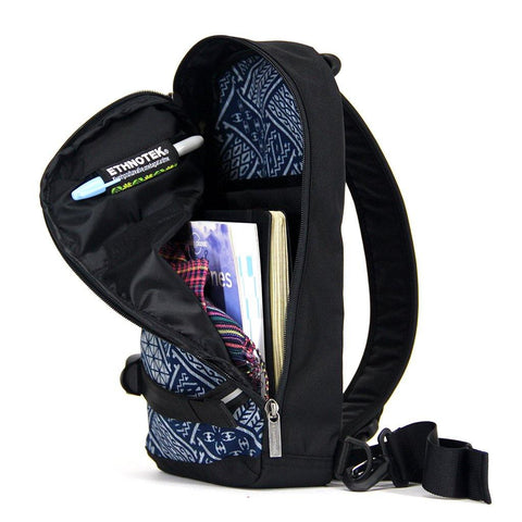 Ethnotek-jalan-cross-body-sling-bag-black-indonesia6-blue-pattern-fits-passport-ipad-notebooks