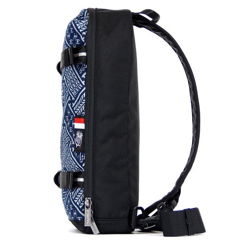Ethnotek-jalan-cross-body-sling-bag-black-indonesia6-blue-pattern-vegan