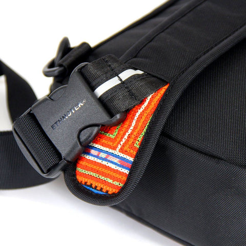 Ethnotek-jalan-cross-body-sling-bag-black-vietnam6-blue-and-orange-side-release-buckle